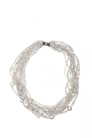 <h5>Bobby</h5><p>Material: Shell Pearl, Crystal<br> Verschluss: Magnet länglich<br> Länge: ca. 48 cm<br></p>